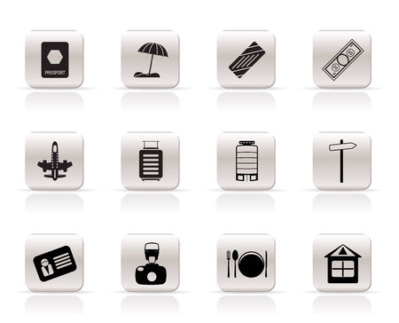 Simple Travel, Holiday and Trip Icons -  Vector Icon Set Stock Vector - 5333304