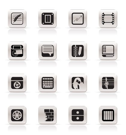 Simple Business, Office and Mobile phone icons - Vector Icon Set Stock Vector - 5333298