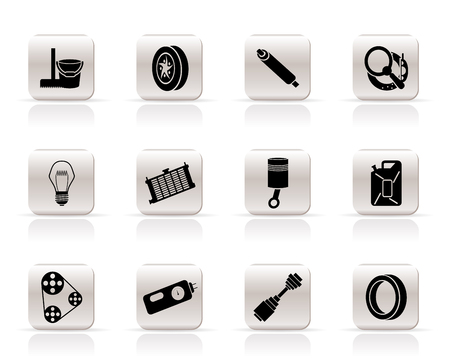 Simple Car Parts and Services icons - Vector Icon Set 2 Vector