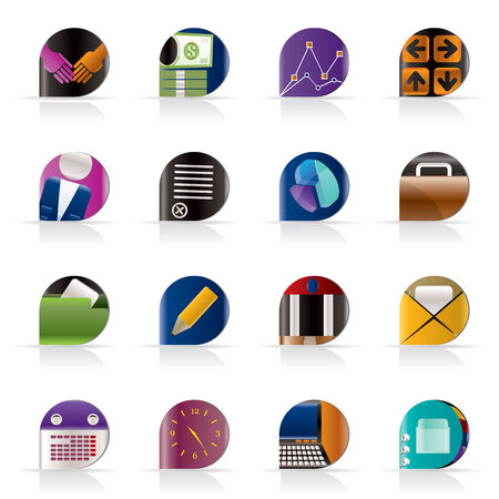 Business and office icons - vector icon set Stock Vector - 5377157