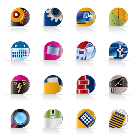 Computer, mobile phone and Internet icons -  Vector Icon Set Stock Vector - 5377149