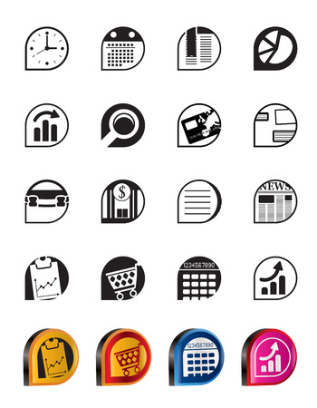 Simple Business and Office  Internet Icons - Vector Icon Set Stock Vector - 5377156
