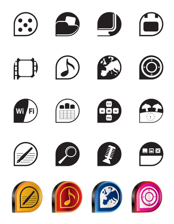polyphony: Simple Phone  Performance, Internet and Office Icons - Vector Icon Set