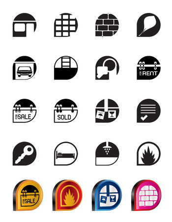 Simple Real Estate icons - Vector Icon Set Stock Vector - 5377147