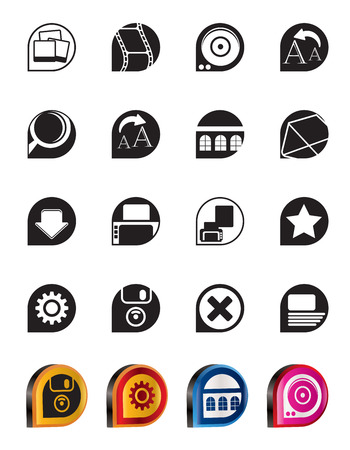 Simple Internet and Website Icons - Vector Icon Set Vector