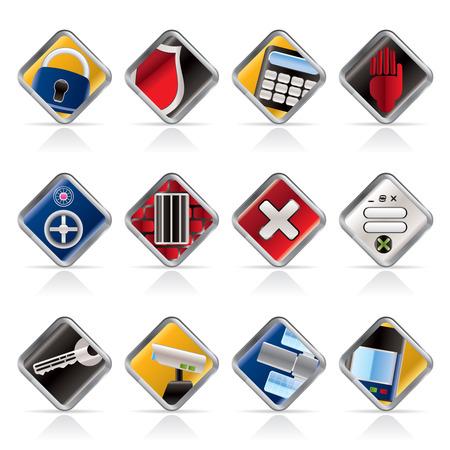 espionaje: De Seguridad y los iconos de negocios - vector icon set Vectores