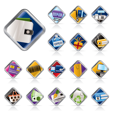 Online Shop, e-commerce and web site icons - Vector Icon Set Stock Vector - 5408879