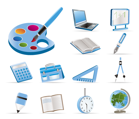 School and education icons - vector icon set  Stock Vector - 5454680