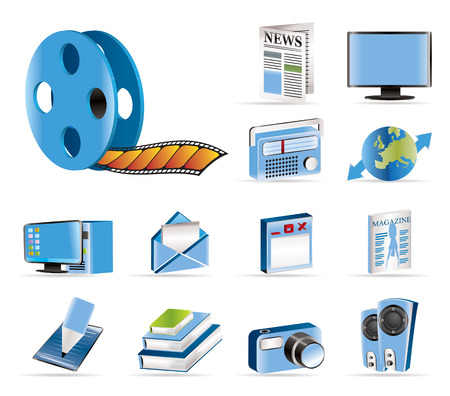 Media and information icons - Vector Icon Set Stock Vector - 5454681