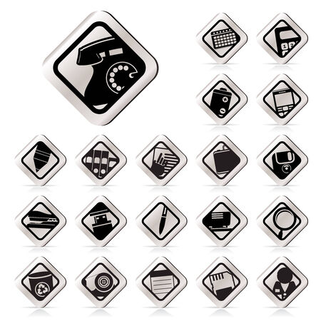 Office tools icons -  vector icon set 3 Stock Vector - 5454670
