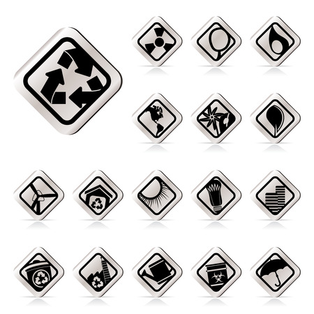 Simple Ecology icons - Set for Web Applications - Vector Vector