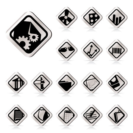 Simple Business and Office Icons - Vector Icon Set Stock Vector - 5454673