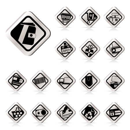 Simple Online Shop, e-commerce and web site icons - Vector Icon Set Stock Vector - 5454676