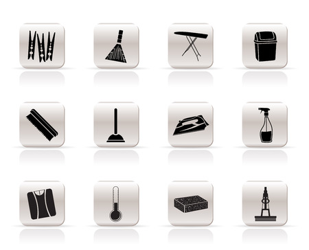 Simple Home objects and tools icons - vector icon set Vector