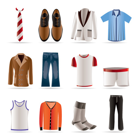 man fashion and clothes icons - icon set Stock Vector - 5666398