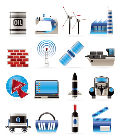 petrol: Business and industry icons- icon set