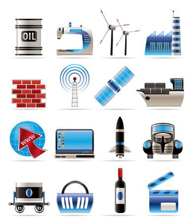 telecomunicaci�n: Conjunto de iconos-icono de comercio y la industria
