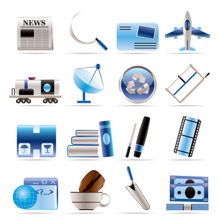 mine site: Business and industry icons - Icon set