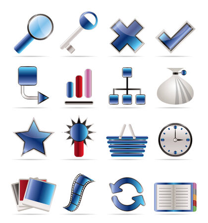 Internet and Web Site Icons - Icon Set Stock Vector - 5666400