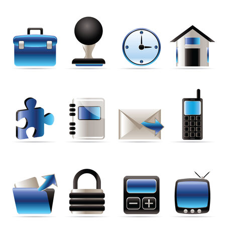 Business and office icons - vector icon set Stock Vector - 5735766