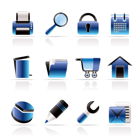website, internet and computer icons - vector icon set Vector