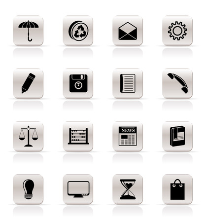 Simple Business and Office internet Icons - Vector icon Set Vector