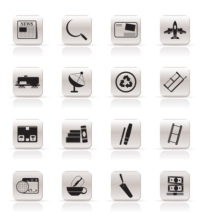 Simple Business and industry icons - Vector Icon set 2 Stock Vector - 5735765