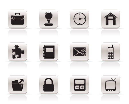 Simple Business and office icons - vector icon set Stock Vector - 5735761