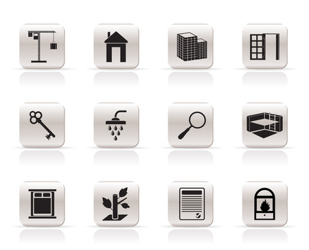Simple Real Estate icons - Vector Icon Set Vector