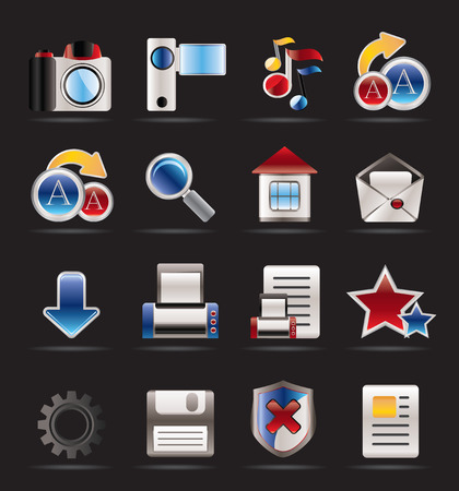 Internet and Website Icons - Vector Icon Set Stock Vector - 5811897