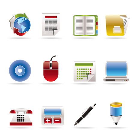 Business and Office tools icons  vector icon set 2 Stock Vector - 5811901