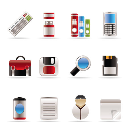 Business and Office tools icons  vector icon set 3 Stock Vector - 5811904