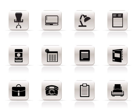 Simple Business, office and firm icons - vector icon set Vector