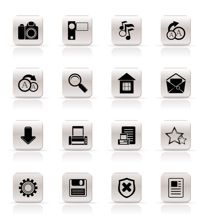 Simple Internet and Website Icons - Vector Icon Set Stock Vector - 5852572