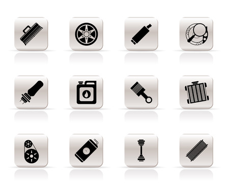 Realistic Car Parts and Services icons - Vector Icon Set 2 Vector