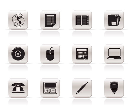 Business and Office tools icons  vector icon set 2 Stock Vector - 5852568