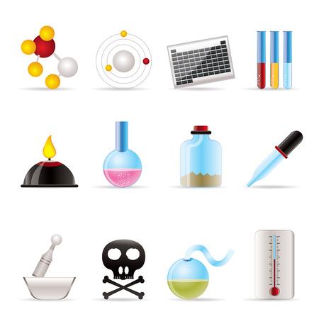 blisters: Icone dell'industria chimica - vector icon set