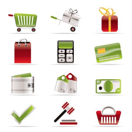 auction: Online shop icons - vector  icon set Illustration
