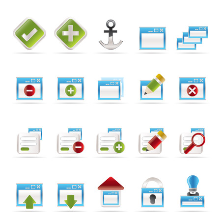 Application, Programming, Server and computer icons vector Icon Set 1 Vector