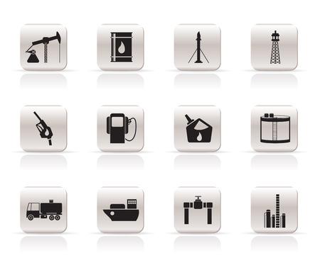 ventile: �l und Benzin Industrie Symbole - Vektor-Symbol-set Illustration