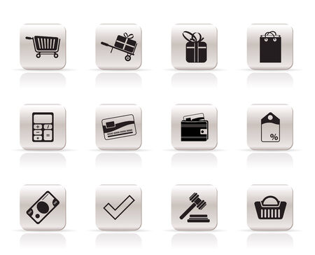 Online shop icons - vector  icon set Stock Vector - 5915401