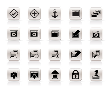 Application, Programming, Server and computer icons vector Icon Set 1 Stock Vector - 5915402