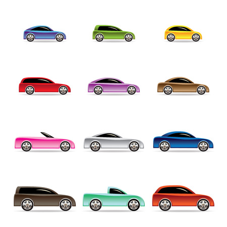 sportcar: different types of cars icons - Vector icon set