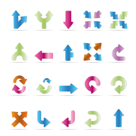 down arrow: Application, Programming, Server and computer icons - Arrows vector Icon Set 3 Illustration