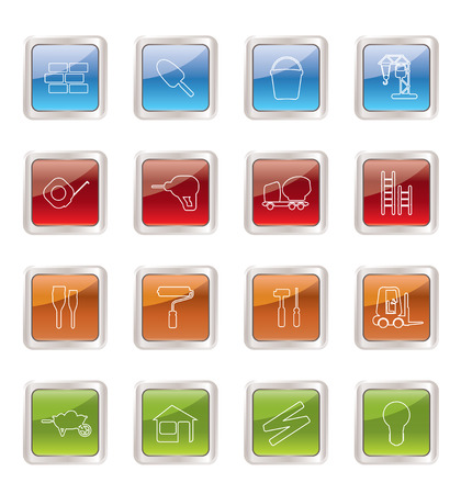 Construction and Building Icon Set. Easy To Edit Vector Image. Stock Vector - 5973760