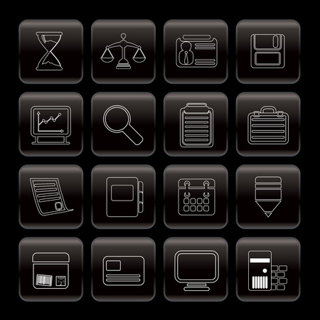 Line Business and office  Icons  vector icon set Vector