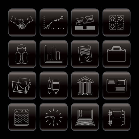 Line Business and Office icons - Vector Icon Set Stock Vector - 5973763