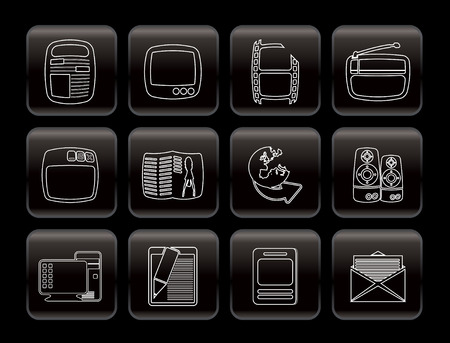 Simple Media icons - Vector Icon Set Vector