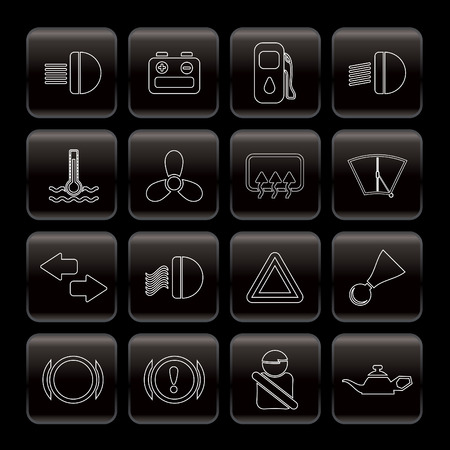 stabilizer: Car Dashboard - simple vector icons set