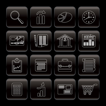 Line Business and Office  Internet Icons - Vector Icon Set 3 Vector